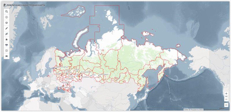 Публичная кадастровая карта главная